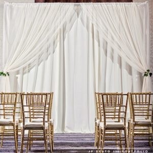 Ivory Ceremony Backdrop