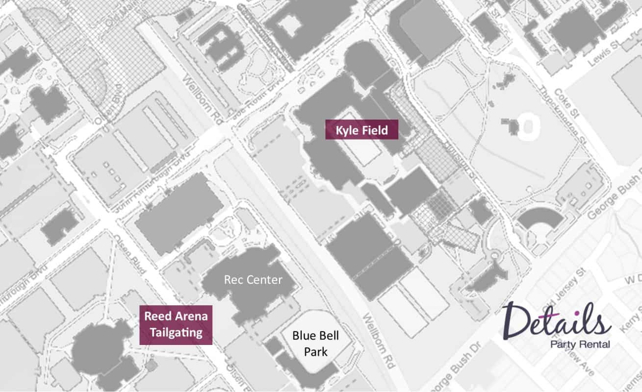Tailgate Map Texas A&M