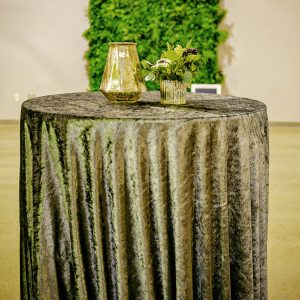charcoal velvet linen cocktail table