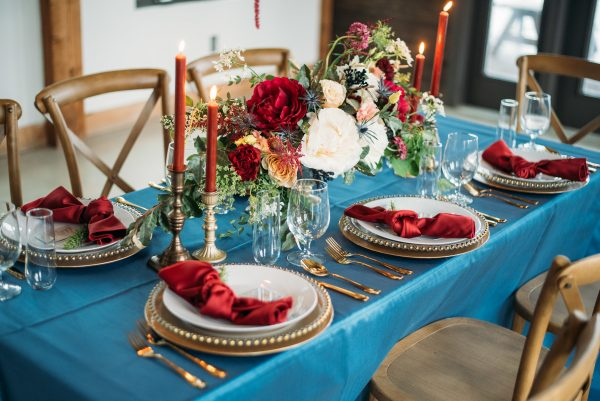Blue Table Set Up