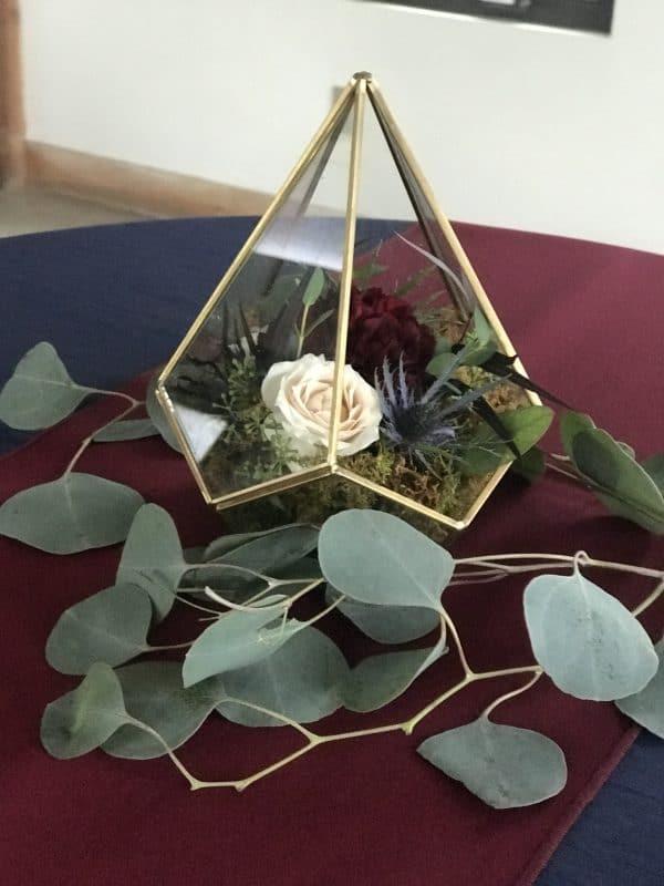 Gold Terrarium with florals