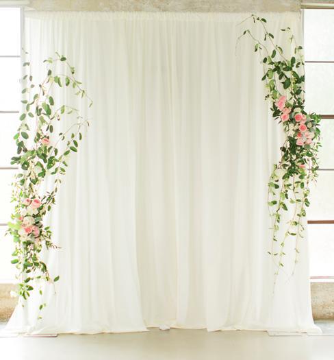 Single Layer Backdrop ceremony