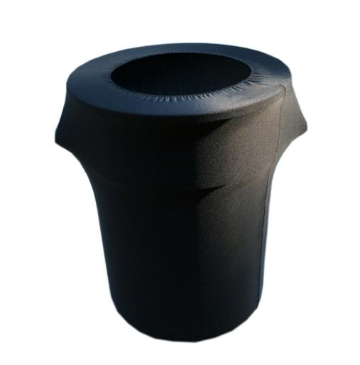 Trash Can Covered with Black Spandex