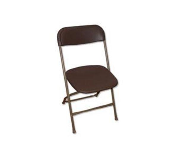 brown folding chair