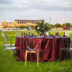 Aggie Maroon Sequin Tailgate Set Up
