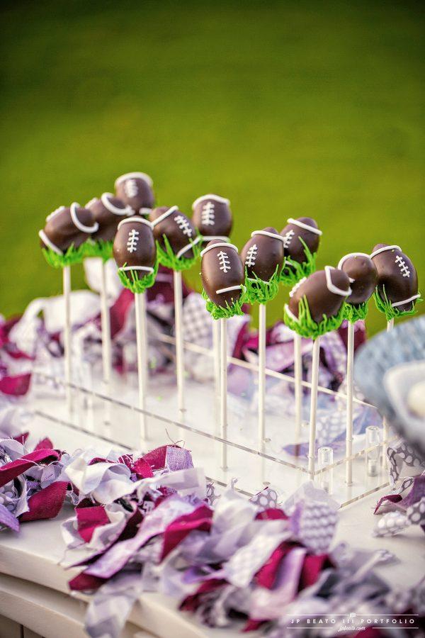 Aggie Football cake pops