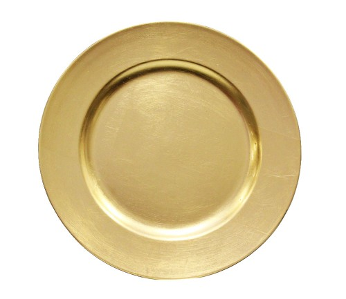 gold charger round