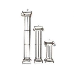Wrought Iron Pillars 3 Heights