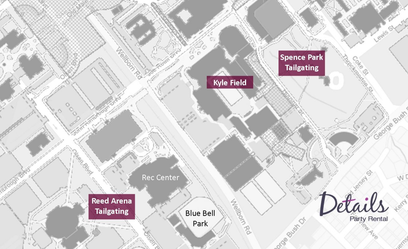 Kyle Field Aggie Tailgate Map