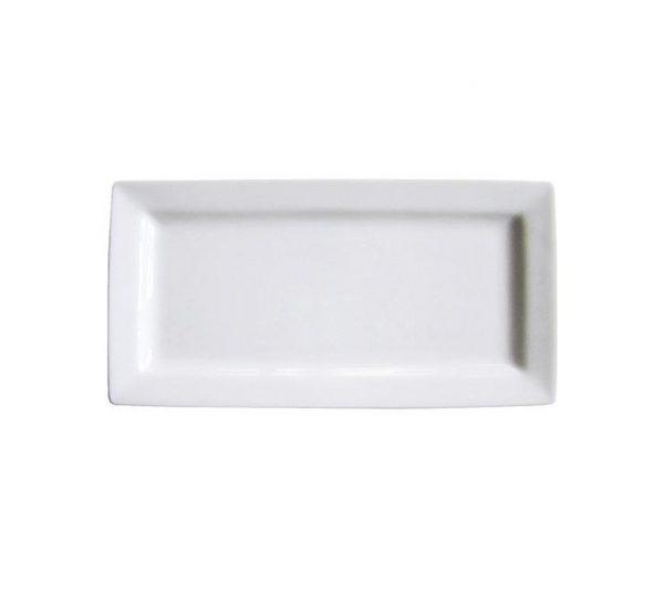 white rectangle platter