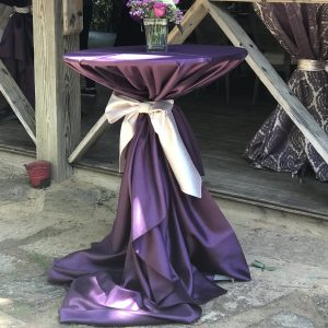 purple cocktail table