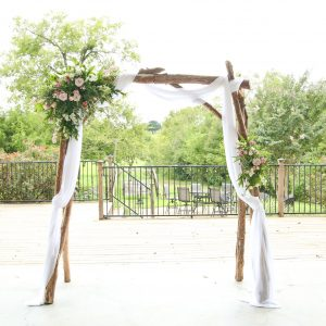 wooden arbor arch
