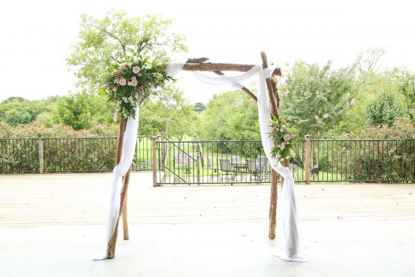 wooden arbor arch