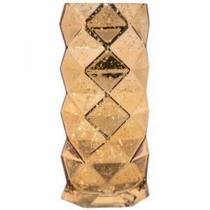 Gold Geometric Cylinder